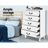 Chest of Drawers Tallboy Dresser Storage Cabinet Table Bedroom Organiser