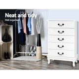 Chest-of-Drawers-Tallboy-Dresser-Storage-Cabinet-Table-Bedroom-Organiser-FURNI-M-KUBI-TBOY-WH-AB-afterpay-zip-laybuy