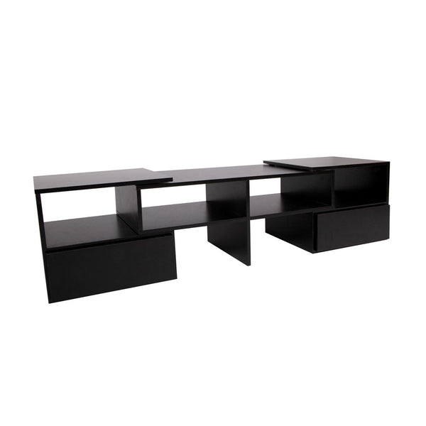 TV Stand Entertainment Unit Adjustable Cabinet Black