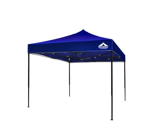 Instahut Gazebo Pop Up Marquee 3x3m Outdoor Tent Folding Wedding Gazebos Blue