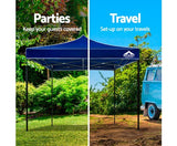 3m x 3m Pop-up Garden Outdoor Gazebo - Blue