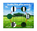 INSTAHUT 3X3M Pop Up Gazebo - Green