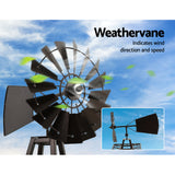 Garden Windmill 120cm Metal Ornaments Outdoor Decor Ornamental Wind Mill