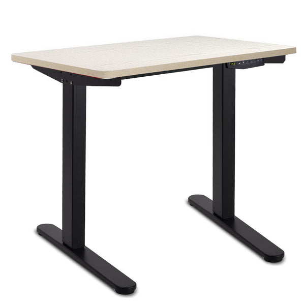 100CM Motorised Height Adjustable Sit Stand Desk White Oak