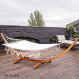 Double-Tassel-Hammock-with-Wooden-Hammock-Stand-HM-TIM-ARC-DOU-TAS-AB-afterpay-zippay-oxipay
