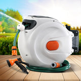 Retractable Hose Reel 20M Garden Water Spray Gun Auto Rewind