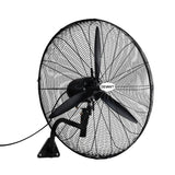 Industrial Wall Mounted Fan – Black
