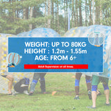 1.2m Inflatable Bumper Ball Body Bubble Outdoor Transparent - Blue