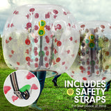 1.2m Inflatable Bumper Ball Body Bubble Outdoor Transparent - Red
