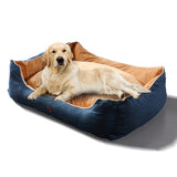 Soft Lining Washable Pet Bed Mat Cushion BLUE XL-Size