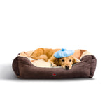 Soft Lining Washable Pet Bed Mat Cushion BROWN