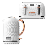 Sunbeam Coastal Collection Kettle and 4 Slice Toaster Pack KE2500WSTA2540WS