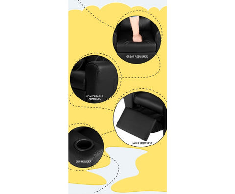 kids padded pu leather recliner chair black afterpay zippay