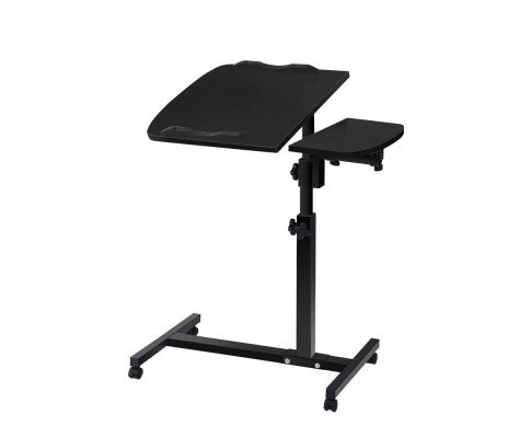 Rotating Mobile Laptop Adjustable Desk -  Black