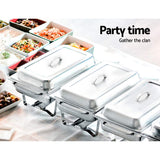 9L Bain Marie Bow Chafing Dish Set Stainless Steel Food Buffet Warmer
