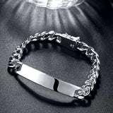 Silver ID-Tag Curb New York Bracelet