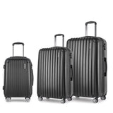 Set of 3 Hard Shell Travel Luggage with TSA Lock - Black