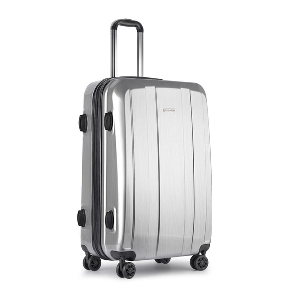Hard Shell Travel Luggage with TSA Lock Silver