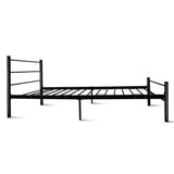 Metal Single Bed Frame - Black