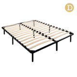 Double Metal Bed Base Frame Black