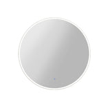 70CM LED Wall Mirror With Light Bathroom Decor Round Mirrors Vintage