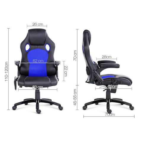 8 Point Massage Racer Pu Leather Office C Afterpay