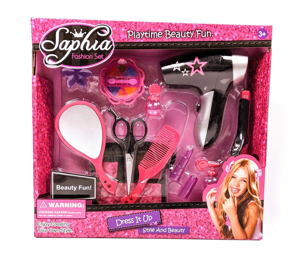 Sophia Toy Hairstyling Set with Electric Toy Hairdryer & Scissors