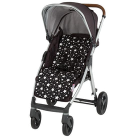 Memory Foam Stroller Liner Black and White Stars