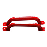 Metal Handle Pair 330mm - Red
