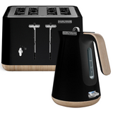 Morphy Richards Scandi Black Aspect Toaster and Kettle Pack 240007100007