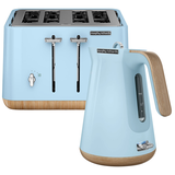 Morphy Richards Scandi Azure Aspect Toaster and Kettle Pack 240008100008