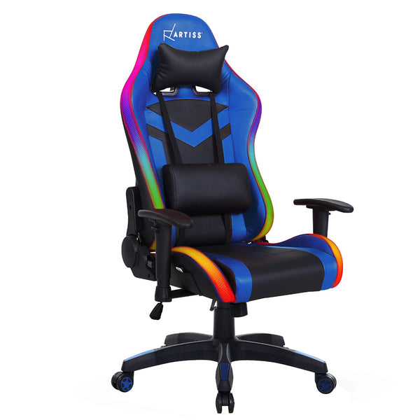 Gaming Office Chair RGB LED Lights Computer Desk Chair Home Work Chairs