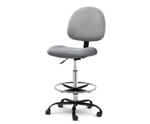 Office Chair Veer Drafting Stool Fabric Chairs Grey