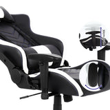 Gaming Office Chair Computer Racing Recliner Executive PU Leather Black and White