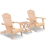 3-piece Adirondack Beach Chair and Table Set