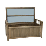 Outdoor Storage Box Wooden Garden Bench Chest Toy Tool Sheds Furniture