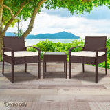 3-piece Outdoor Set - Brown