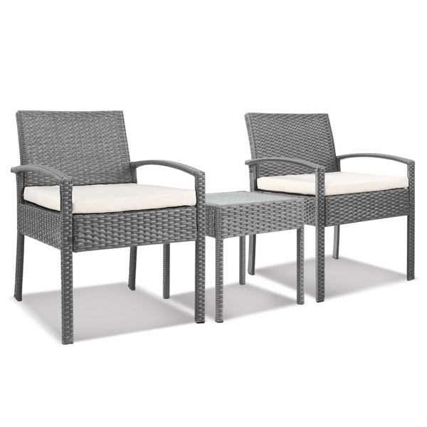 3-piece Outdoor Set - Grey