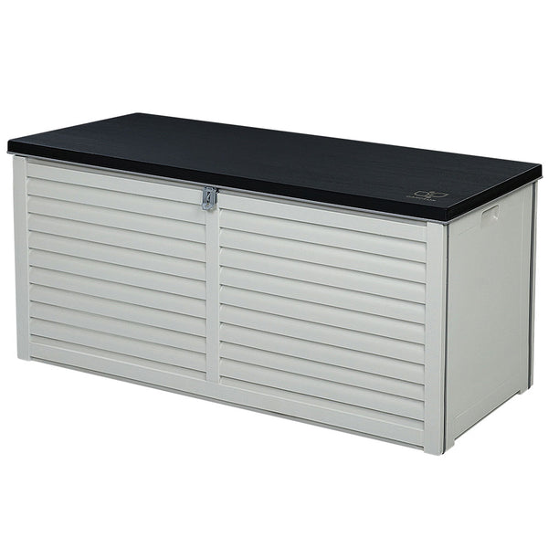 490L Outdoor Storage Box Bench Seat Toy Tool Sheds Chest