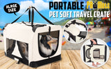 Portable Soft Dog Crate XL - WHITE