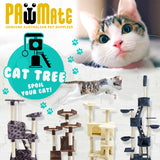 Cat Tree Scratcher TUBU 72cm - BROWN