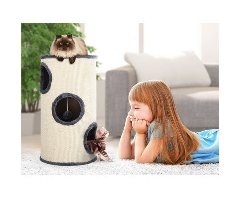 Cat Tree 70cm Trees Scratching Post Scratcher Tower Condo House Furniture Wood