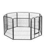 8 Panel Pet Dog Playpen Puppy Exercise Cage Enclosure Fence Play Pen 80x100cm