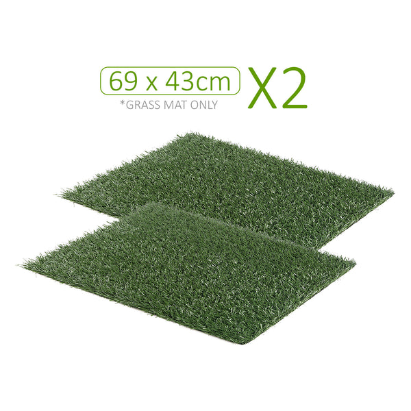 Pet Potty Training Pad Tray 69 x 43cm - 2 Grass Mat Only
