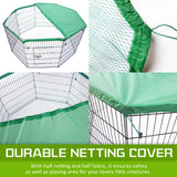 "8-Panel-Foldable-Pet-Playpen-24""-w/-Cover---GREEN-NXM-PET-PP24-PPCV24-GN-afterpay-zippay-oxipay"