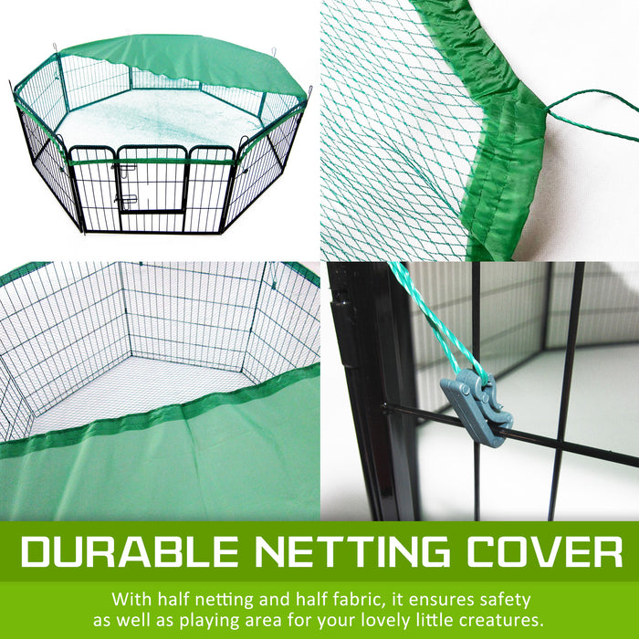 "8-Heavy-Duty-Panel-Foldable-Pet-Playpen-40""-w/-Cover---GREEN-NXM-PET-PP40S-PPCV40S-GN-afterpay-zippay-oxipay"