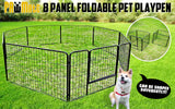 "8 Heavy Duty Panel Foldable Pet Playpen 40"" w/ Cover - GREEN"