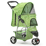 3 Wheel Pet Stroller - Green
