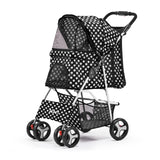 Pet Stroller Dog Cage Foldable Pram Spot 4 Wheels