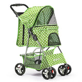 4 Wheel Pet Stroller - Green
